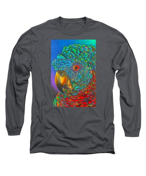 St. Lucian Parrot - Exotic Bird Long Sleeve T-Shirt