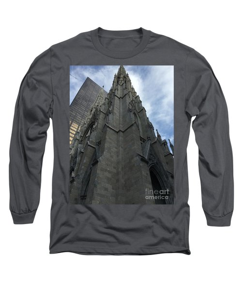 St. Patricks Cathedral Perspective Long Sleeve T-Shirt