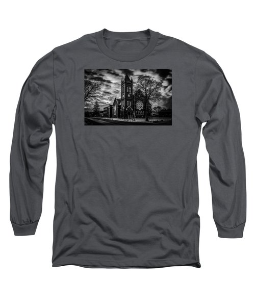 St Pauls United Church Milton  Black And White Long Sleeve T-Shirt