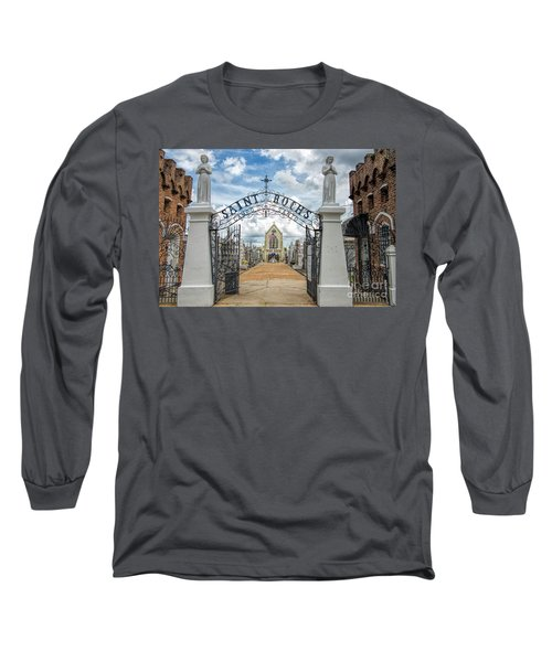 St. Roch's Cemetery In New Orleans, Louisiana Long Sleeve T-Shirt by Bonnie Barry