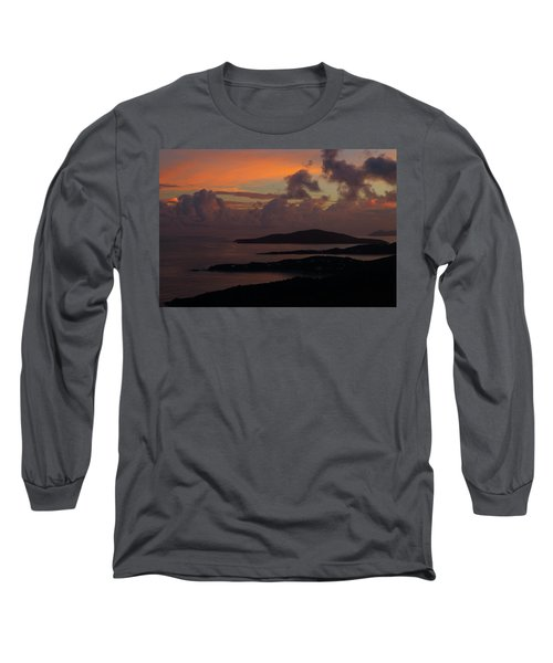Long Sleeve T-Shirt featuring the photograph St Thomas Sunset At The U.s. Virgin Islands by Jetson Nguyen