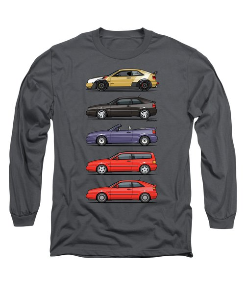 Stack Of Vw Corrados Long Sleeve T-Shirt