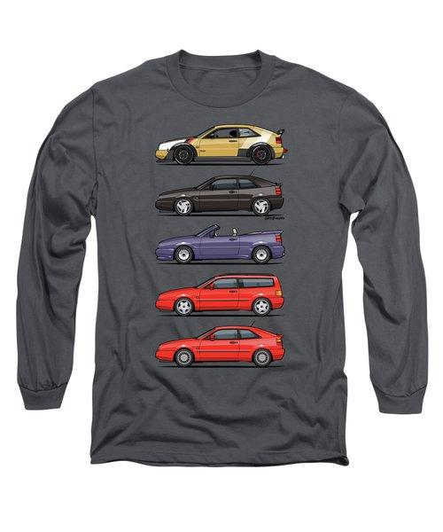 Stack Of Vw Corrados Long Sleeve T-Shirt