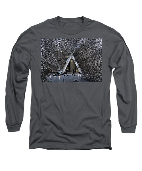 Stacked Bicycles  Long Sleeve T-Shirt by Shirley Mitchell