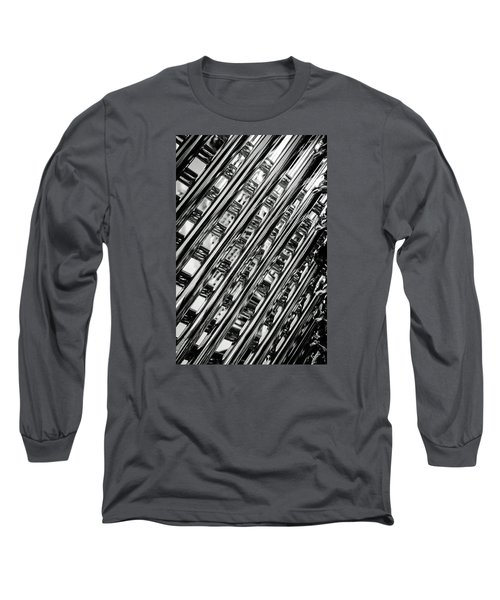 Long Sleeve T-Shirt featuring the photograph Stacked Chairs Abstract by Bruce Carpenter