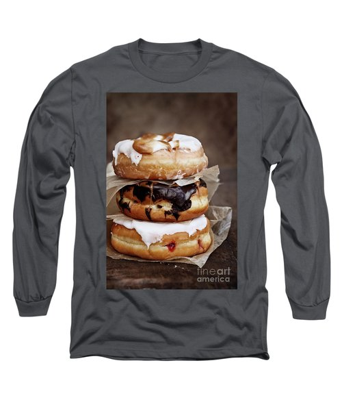 Stacked Donuts Long Sleeve T-Shirt by Stephanie Frey