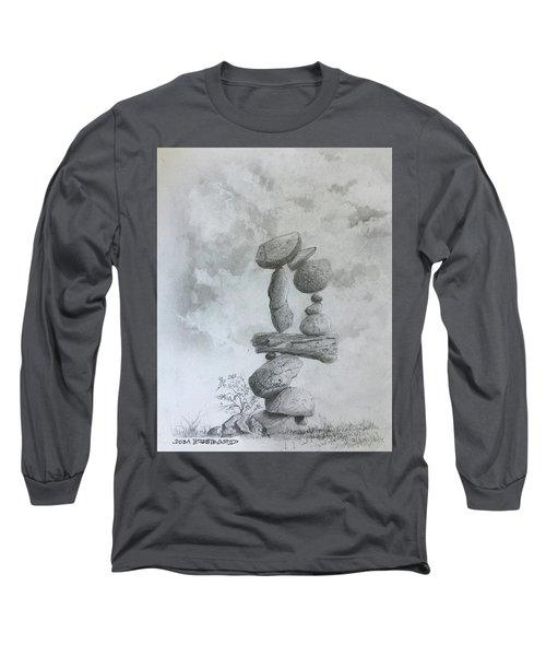 Stacked Rocks Circle Long Sleeve T-Shirt