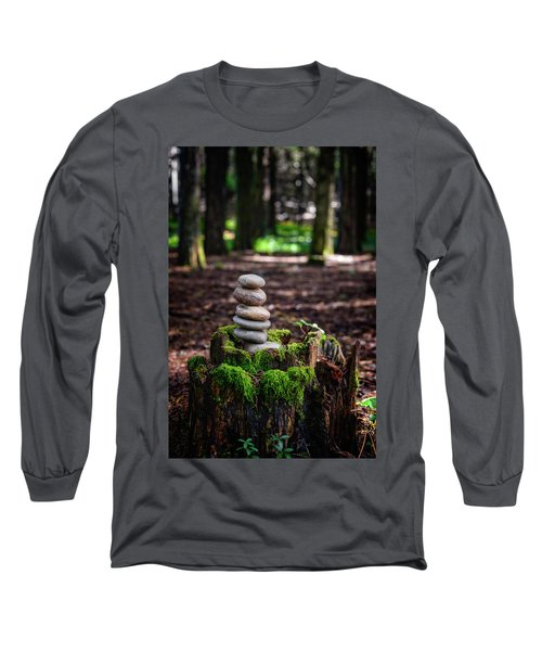Long Sleeve T-Shirt featuring the photograph Stacked Stones And Fairy Tales IIi by Marco Oliveira