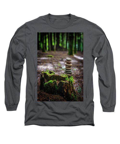Long Sleeve T-Shirt featuring the photograph Stacked Stones And Fairy Tales by Marco Oliveira