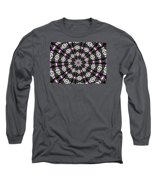 Long Sleeve T-Shirt featuring the photograph Stained Glass Kaleidoscope 3 by Rose Santuci-Sofranko