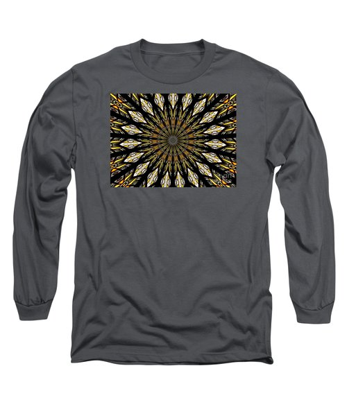 Long Sleeve T-Shirt featuring the photograph Stained Glass Kaleidoscope 5 by Rose Santuci-Sofranko