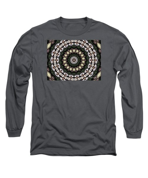 Long Sleeve T-Shirt featuring the photograph Stained Glass Kaleidoscope 6 by Rose Santuci-Sofranko