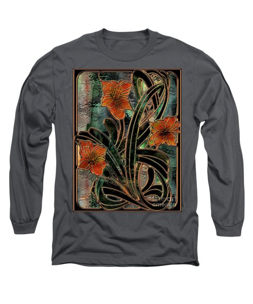 Stained Glass Parabolas Long Sleeve T-Shirt