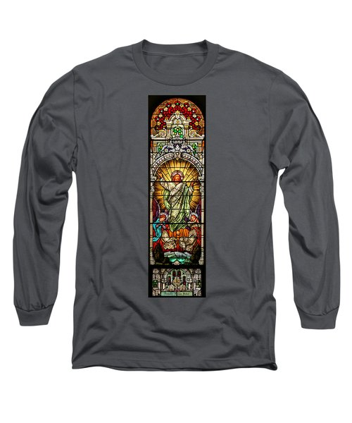 Long Sleeve T-Shirt featuring the photograph Stained Glass Scene 10 by Adam Jewell