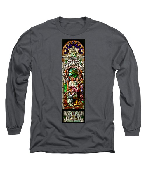Long Sleeve T-Shirt featuring the photograph Stained Glass Scene 11 by Adam Jewell