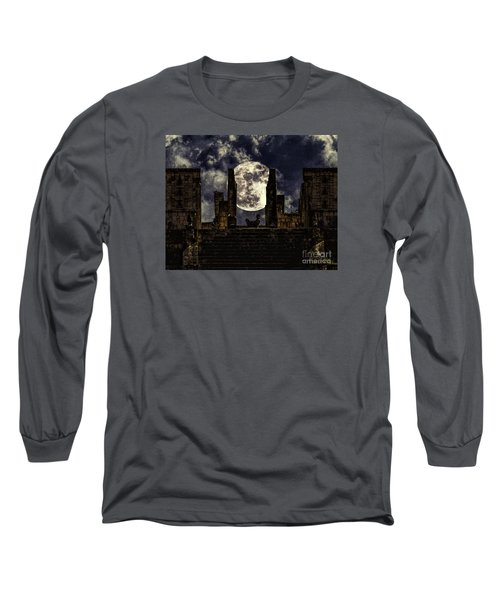 Stairway To The Moon Long Sleeve T-Shirt by Ken Frischkorn