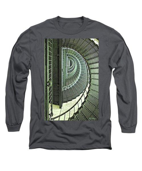 Stairwell Currituck Beach Lighthouse Long Sleeve T-Shirt