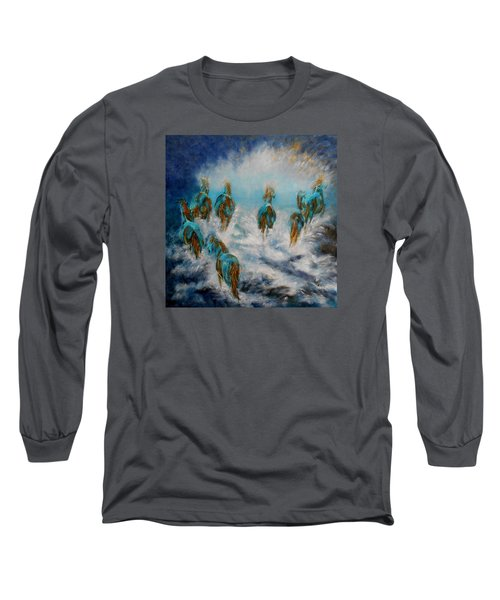Stampede To Heaven Long Sleeve T-Shirt by Maris Sherwood
