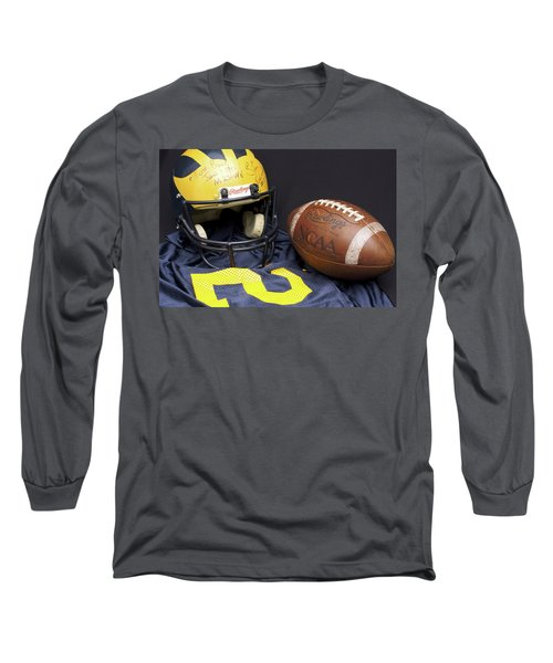 Stan Edwards's Autographed Wolverine Helmet Long Sleeve T-Shirt