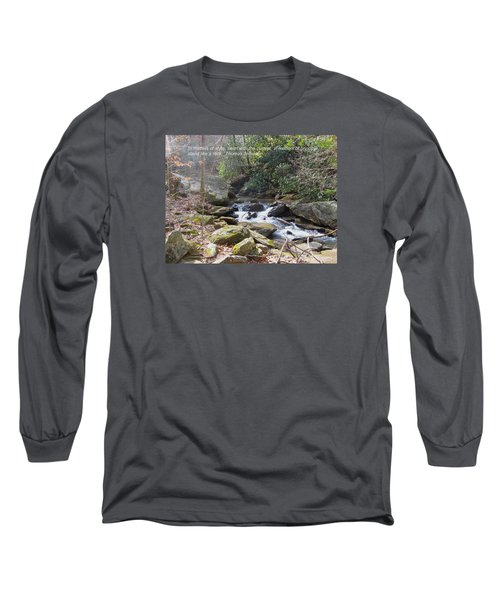 Stand Like A Rock Long Sleeve T-Shirt by Deborah Dendler
