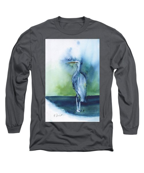 Standing Crane Long Sleeve T-Shirt