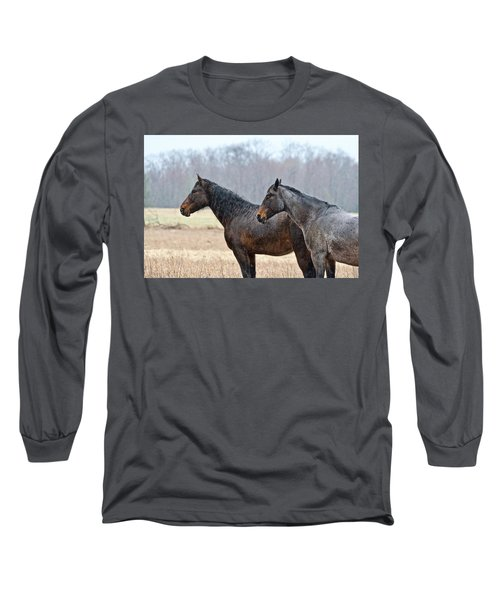Long Sleeve T-Shirt featuring the photograph Standing In The Rain 1281 by Michael Peychich