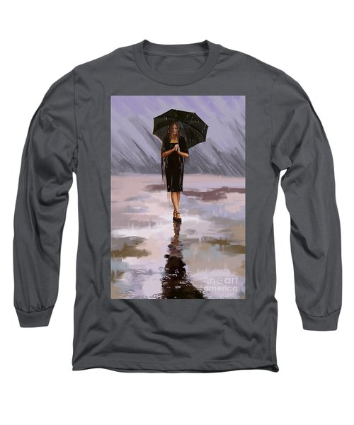 Standing-in-the-rain Long Sleeve T-Shirt