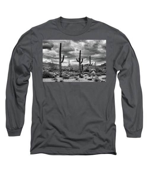 Standing Saquaros Long Sleeve T-Shirt by Monte Stevens