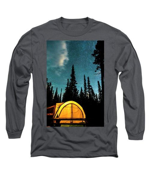 Long Sleeve T-Shirt featuring the photograph Star Camping by James BO Insogna