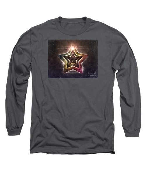 Long Sleeve T-Shirt featuring the digital art Star Lights by Phil Perkins