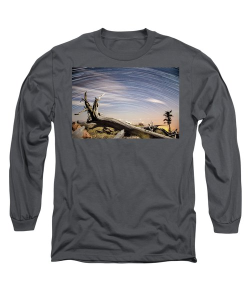 Star Trails By Fort Grant Long Sleeve T-Shirt