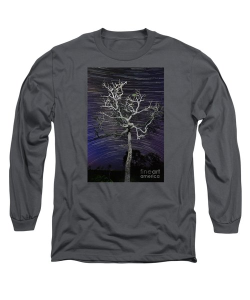 Long Sleeve T-Shirt featuring the photograph Star Trails In The Cerrado by Gabor Pozsgai