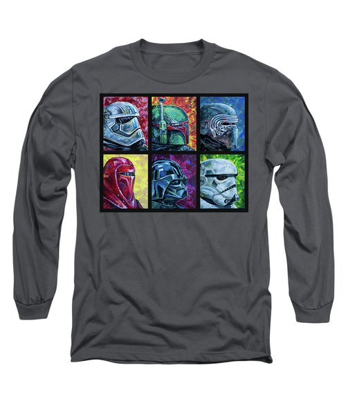 Star Wars Helmet Series - Collage Long Sleeve T-Shirt