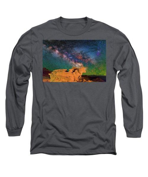 Stargazing Bull Long Sleeve T-Shirt