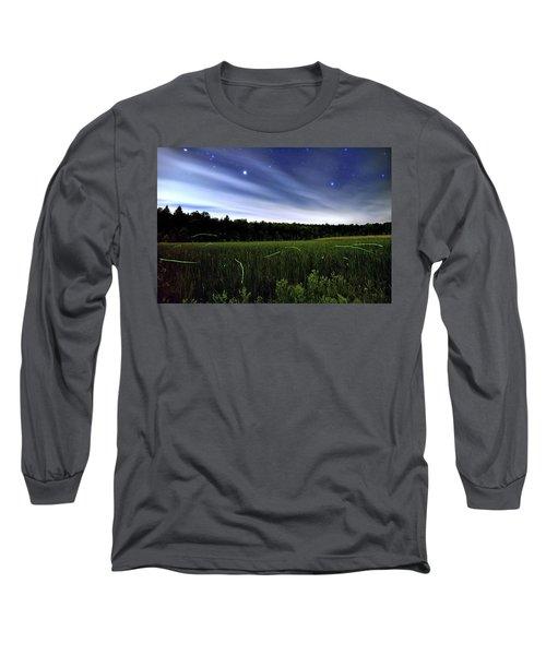 Starlight And Fireflies Long Sleeve T-Shirt