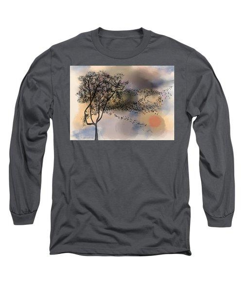 Starlings At Dusk Long Sleeve T-Shirt