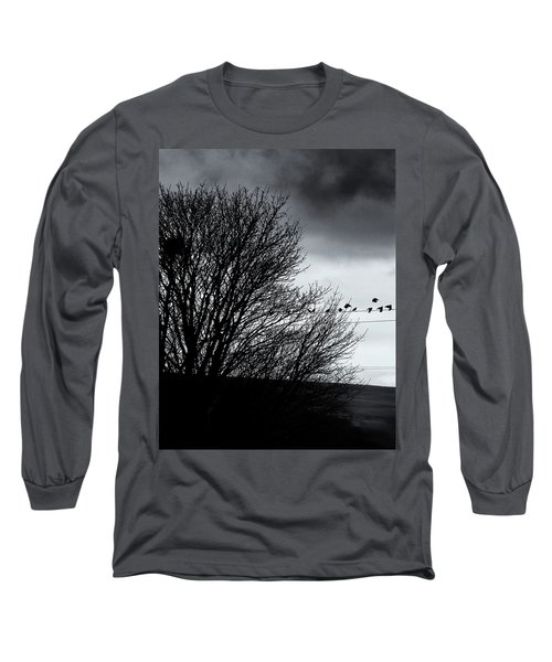 Starlings Roost Long Sleeve T-Shirt by Philip Openshaw