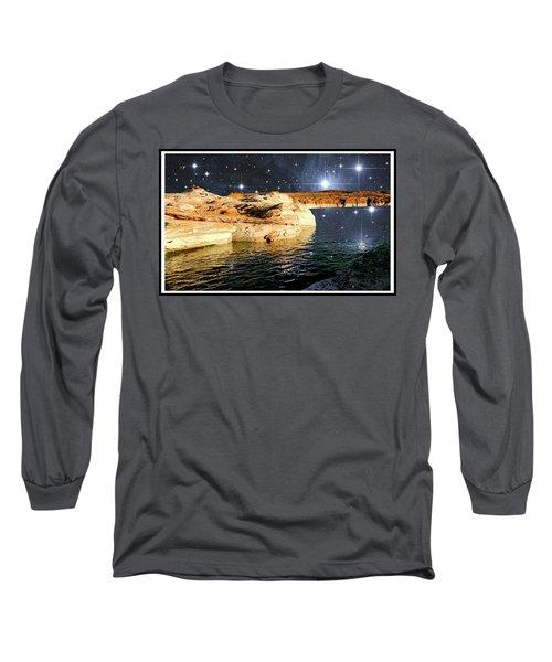 Starry Night Fantasy, Lake Powell, Arizona Long Sleeve T-Shirt