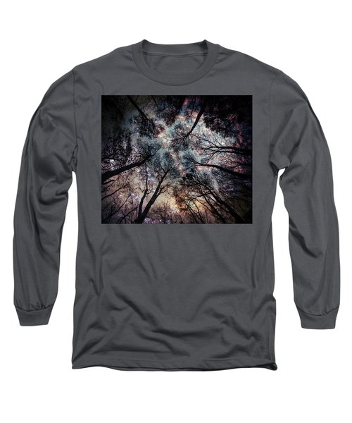 Starry Sky In The Forest Long Sleeve T-Shirt