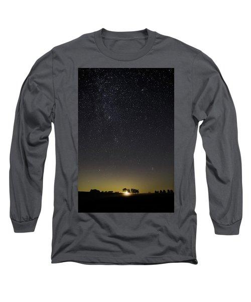 Starry Sky Over Virginia Farm Long Sleeve T-Shirt