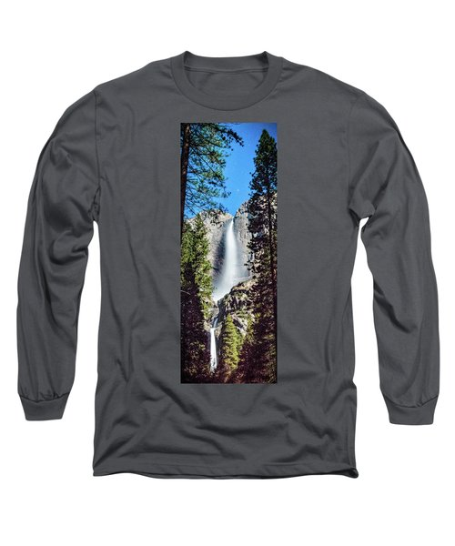 Starry Yosemite Falls Long Sleeve T-Shirt