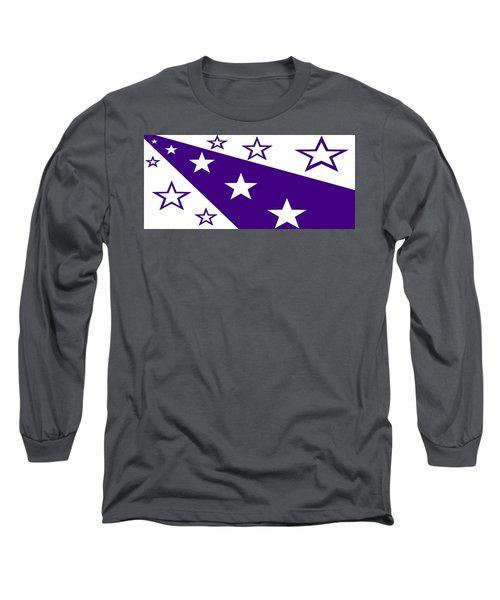 'stars 21' Or 'purple Stars' Long Sleeve T-Shirt by Linda Velasquez
