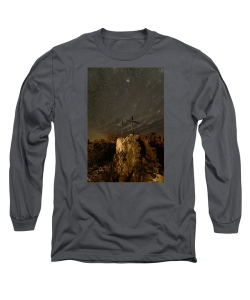 Stars And Crosses Long Sleeve T-Shirt by Allen Biedrzycki