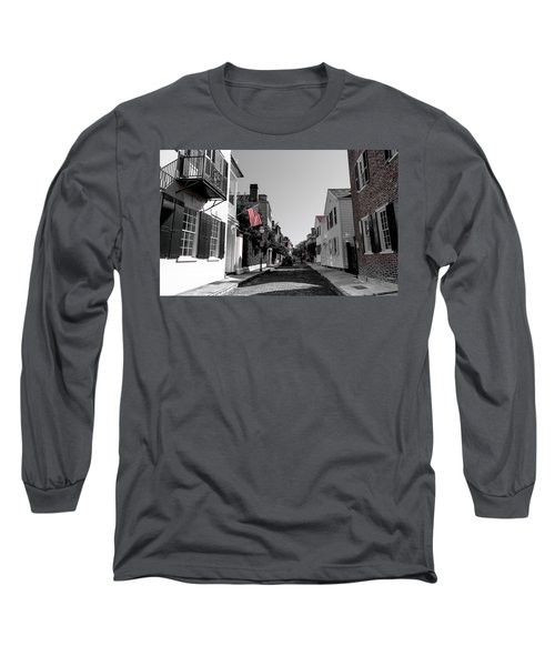 Stars And Stripes- Church St Charleston Sc Long Sleeve T-Shirt
