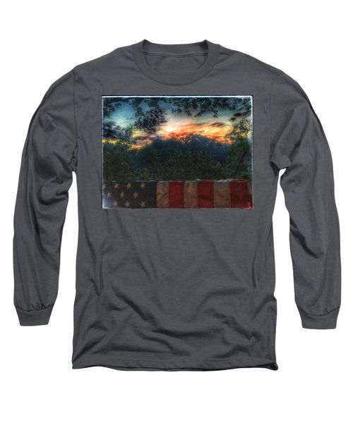Stars Stripes And Skies Forever Long Sleeve T-Shirt