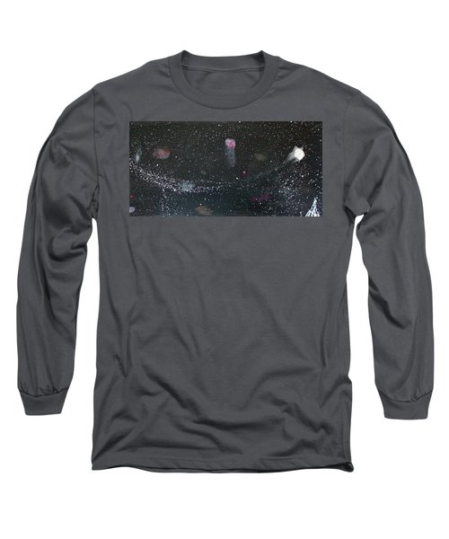 Long Sleeve T-Shirt featuring the painting Starry Night by Michael Lucarelli