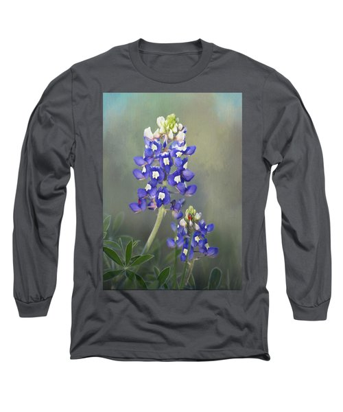 Long Sleeve T-Shirt featuring the photograph State Flower Of Texas by David and Carol Kelly