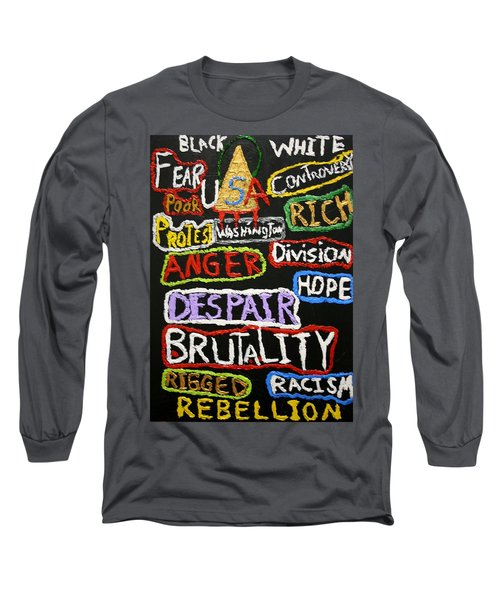 State Of America Long Sleeve T-Shirt by Darrell Black