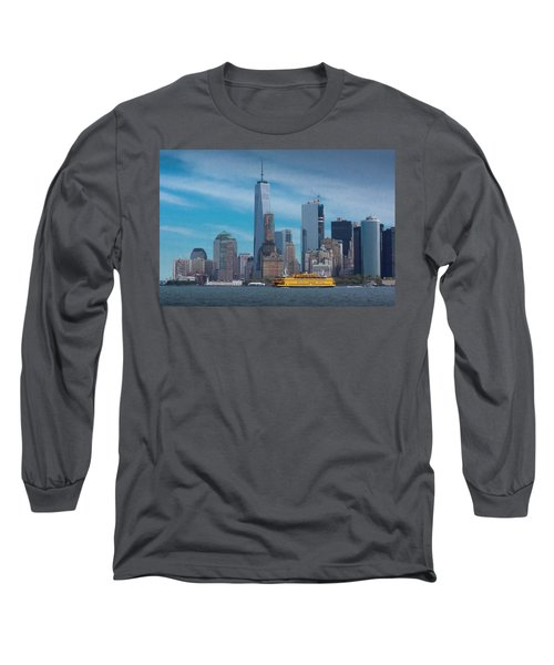 Staten Island Ferry Leaving Manhattan Long Sleeve T-Shirt