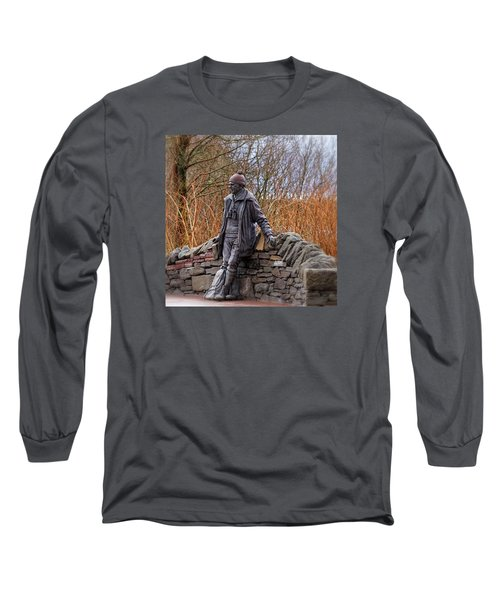 Long Sleeve T-Shirt featuring the photograph Statue Of Tom Weir by Jeremy Lavender Photography